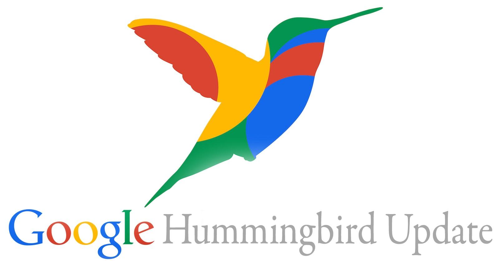 Google hummingbird update and user intent