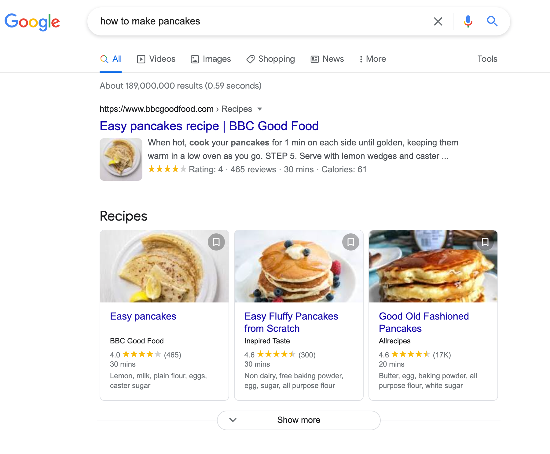 informational search intent example
