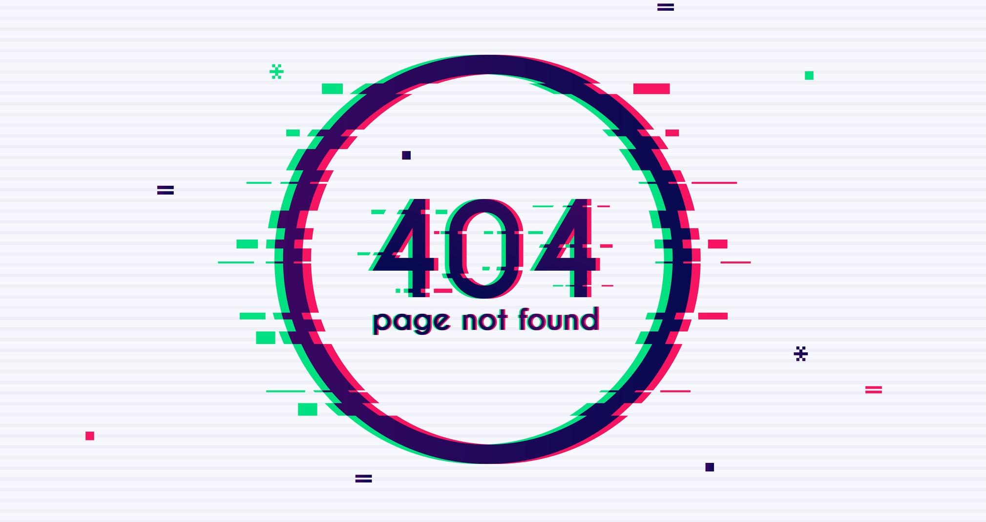 404 error from broken internal links