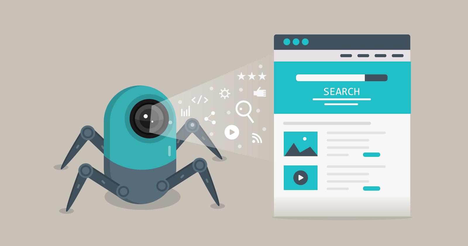 Image showing Google bot crawling for internal links