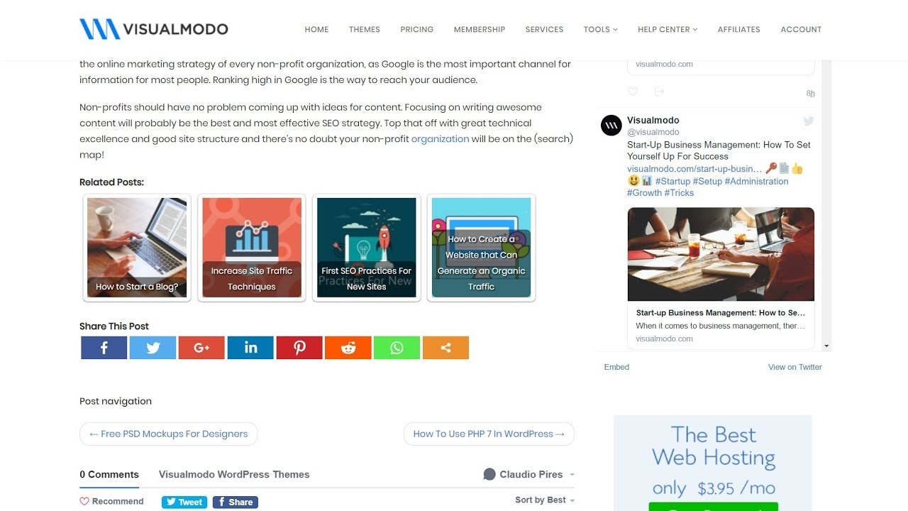 Example of related posts for internal linking
